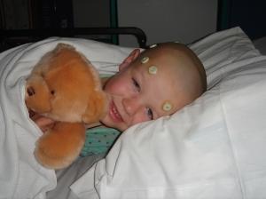 """T with """"John the Bear"""" awaiting surgery"""